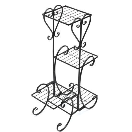 Meigar Plant Stand Metal Flower Holder Pot With 4 Tier Garden