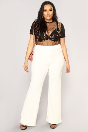 Victoria High Waisted Dress Pants - White in 2019 | Dr appt for ...