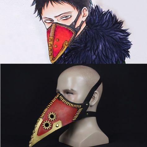 No Hero My Hero Cosplay Academia Overhaul Plague Mask Kai Chisaki Face Masque#un