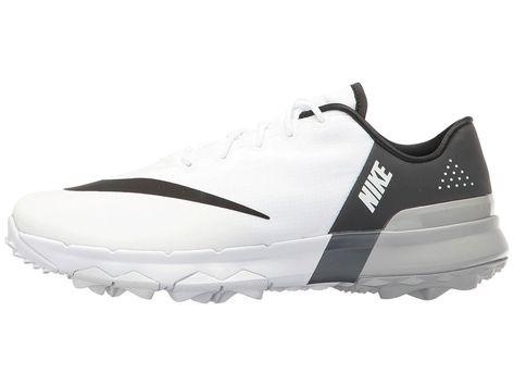 e77359a4aeb9cc Nike Golf FI Flex Women s Golf Shoes White Black Anthracite Wolf Grey