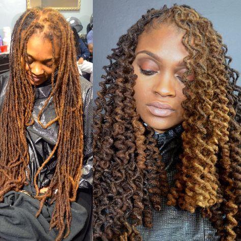 Corkscrew Loc Curls Natural Hair Styles Locs Hairstyles Hair Styles