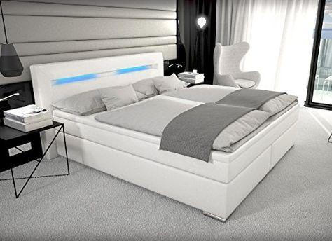Designer Boxspring Bett Paris Mit Bettkasten Led Beleuchtung