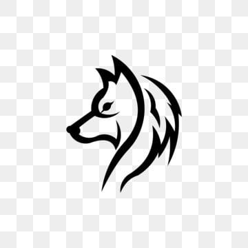 Wolf Head Mascot Logo Vector Wolf Silhouette Wolf Illustration Wolf Artwork