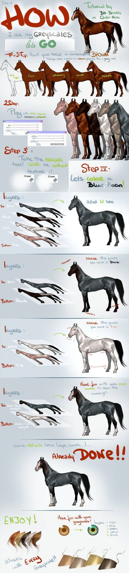Greyscale Tutorial By Bh Stables Greyscale Digital Painting Tutorials Sport Horse
