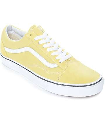 Vans Old Skool Dusty City Yellow & White Skate Shoes ...