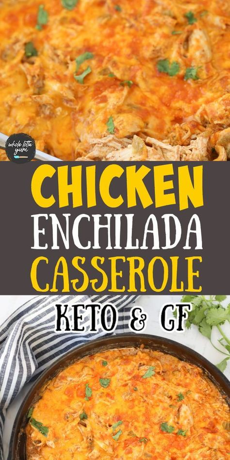 An easy keto enchilada casserole in a skillet that makes a quick keto dinner recipe in one pan that takes less than 30 minutes.