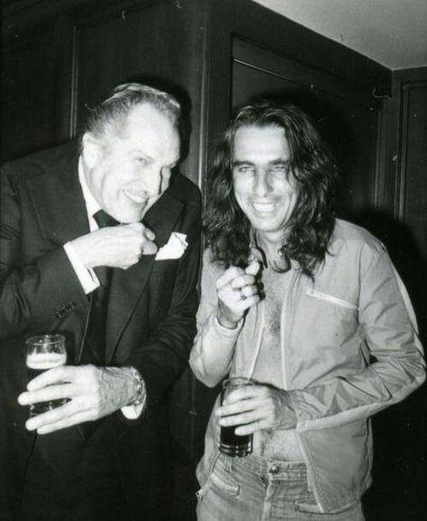Vincent Price and Alice Cooper - Grande Ballroom, Detroit