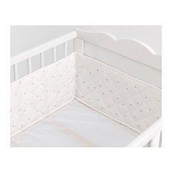 Ikea Len Katalog len ozdob lem na detskú postieľku biela lens crib skirts and crib