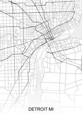 Detroit MI USA Street Map | North America Street Maps | road ... on map usa dallas, map usa indianapolis, map usa new orleans, map usa san francisco, map usa boston, map usa chicago, map usa san antonio, map usa cleveland, map usa san diego, map usa new york, map usa baltimore, map usa philadelphia, map usa michigan, map usa atlanta,