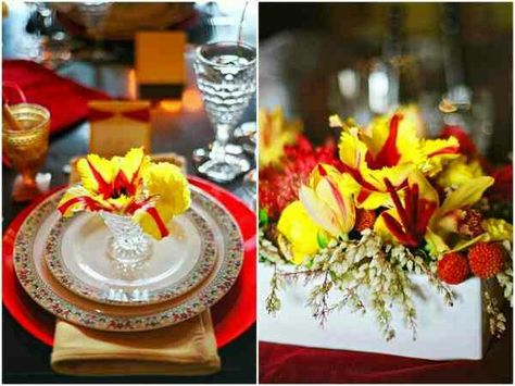 Fancy Yellow And Red Wedding Decor Orange Pinterest