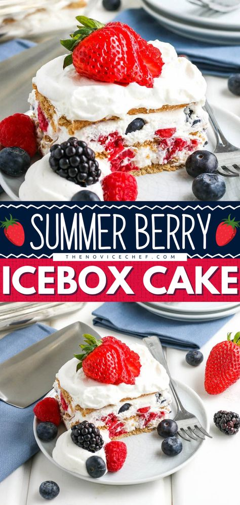 Summer Berry Icebox Cake