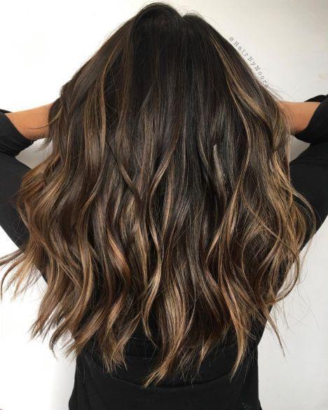 Golden Brown Balayage Hair Haarfarben Brunette Frisuren Brunette