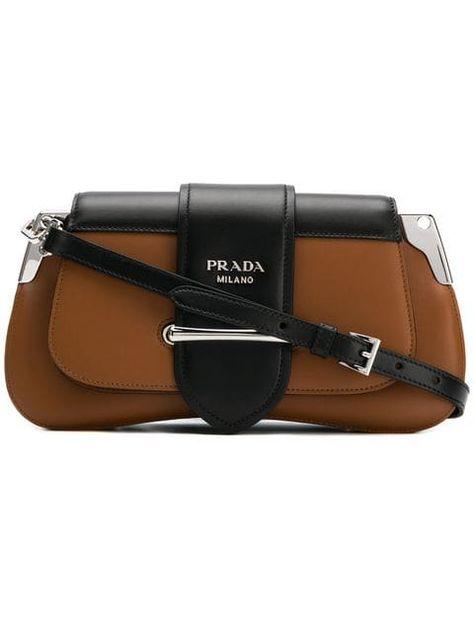 Prada Mini Logo Shoulder Bag - Farfetch  8d0ad12cb0042