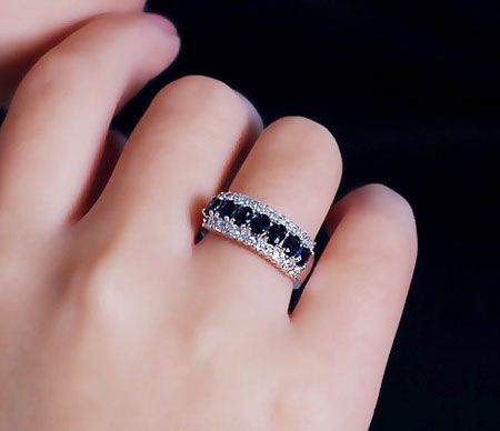 Diamond Purity Rarity And Exceptional Brilliance Have Made Them One Of Th With Images Gold Ring Designs Sapphire And Diamond Band Diamond Half Eternity Band