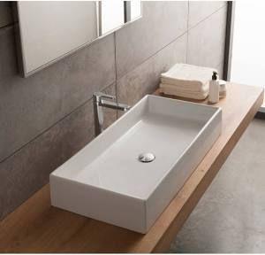 White Ceramic Vessel Bathroom Sink 32 Teorema Scarabeo 8031 80