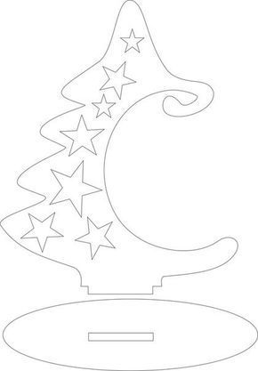 Christmas tree/ornament holder cut out pattern