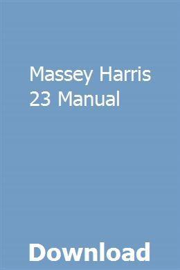 Advertisement Ebay Massey Harris Mh 44 Tractor Service Parts Manuals 240pg For Mh44 Repair In 2020 Tractors Monster Trucks Repair