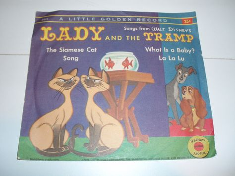 Little Golden Record Walt Disney S Lady And The Tramp Siamese Cat