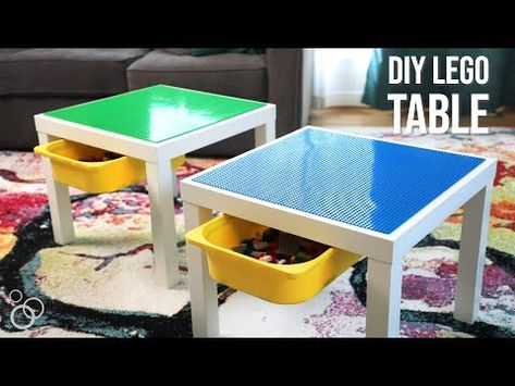 Thankful used lego ideas Yes! I want this deal. Lego Table Ikea, Lego Table With Storage, Ikea Lack Table, Lego Storage, Legos, Mesa Lego, Ikea Trofast, Diy Table, Lego Minecraft