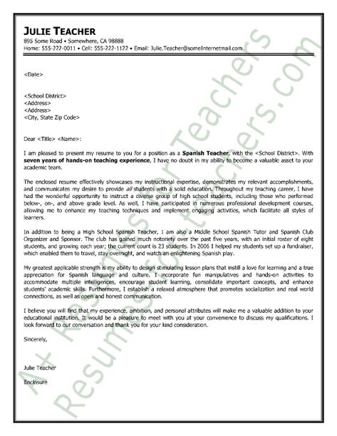 cover letter spanish teacher Study our spanish teacher cover letter samples to learn the best way to write your own powerful cover letter.