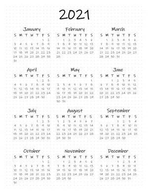 Free Printable Bullet Journal Year At A Glance Calendar In 2020 Bullet Journal Year At A Glance Bullet Journal Calendar Printable Bullet Journal Print