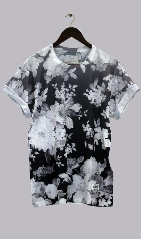 shirt thfkdlf black & white floral unisex sway dark grunge blouse soft grunge goth pastel goth emo dark kawaii i kawaii adorable kawaii dark floral t-shirt