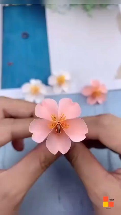 DIY sakura garland