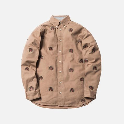01233437 Kith x Tommy Hilfiger Twill Crest Woven Shirt - Khaki ...
