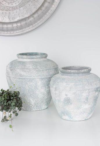 Tonvase Antique Blue Bunzlauer Keramik Bunzlauer Dekoration