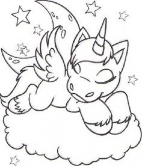 39 Sleeping Unicorn Cute Coloring Pages Coloring Pages