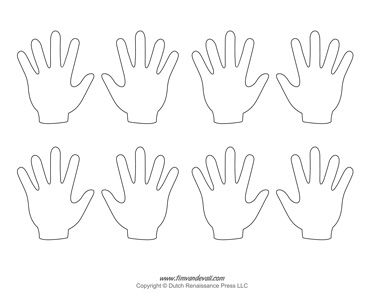 Blank Hand Template Tim S Printables Hand Crafts For Kids Hand Outline Helping Hands Craft