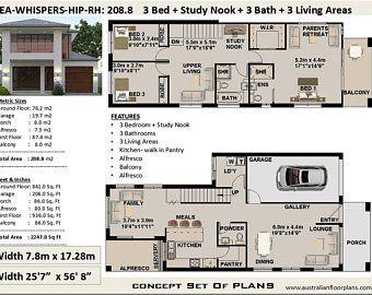16x40 House 1193 Sq Ft Pdf Floor Plan Instant Etsy 2 Storey House Design Courtyard House Plans Duplex Floor Plans