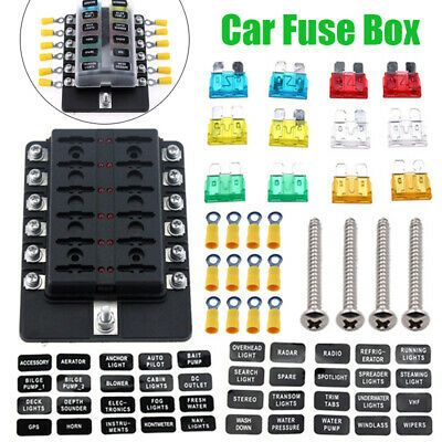Ad Ebay Link 12 Way Auto Car Boat Bus Fuse Box Block Cover With 12v Led Indicators 12v Led Led Car