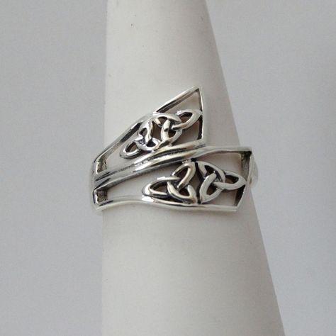 Irischer Damenring Trinity Knot Silber 925