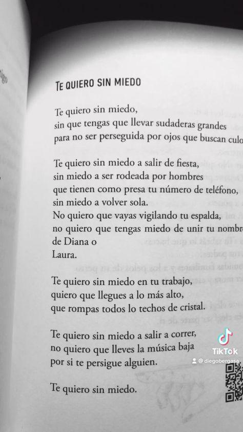 Te quiero sin miedo de mi libro Te quiero libre