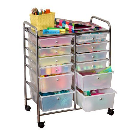 Home In 2020 Rolling Storage Cart Plastic Storage Drawers