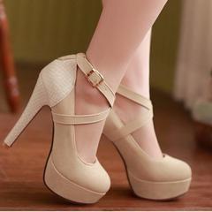 Criss Cross High Heel Pump Shoes - Daisy Dress For Less