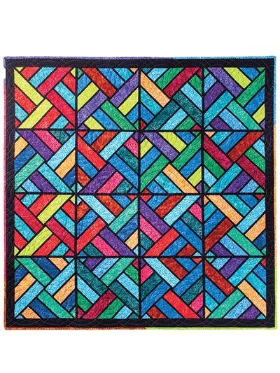 Tessellating Diamonds Quilt Pattern Scrappy Quilt Patterns