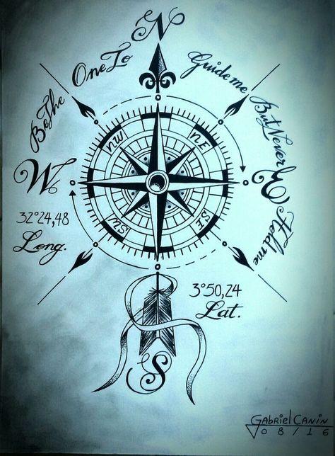 Kompass   - Tattoos - #Kompass #Tattoos