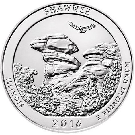 2016 P D S 3 Quarters set America the Beautiful Shawnee National Forest coin