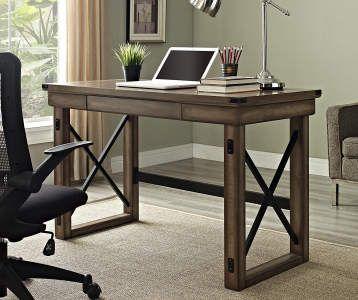 Sauder Salt Oak Graham Hill Desk Big Lots Home Office Design Rustic Desk Grey Wood Desk