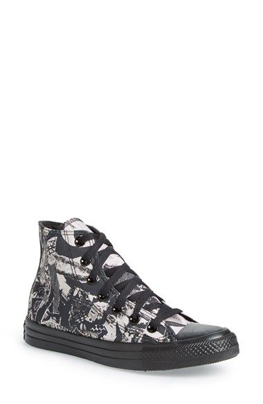 separation shoes 106a5 31faa Converse Chuck Taylor® All Star® Print High Top Sneaker canvas parchment black  sz7.5 59.95    Converse Crazy!    Pinterest   Converse, Converse chuck  taylor ...