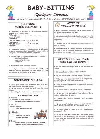 Exemple Cv Baby Sitting Cv Anonyme Exemple Cv Baby Sitting Exemple