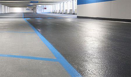Kunstharz Boden Beschichtung Parkhaus Garage Parkdeck