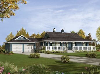 Caldean Country Ranch Home Ranch Style House Plans Basement House Plans Porch House Plans