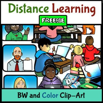Free This Resource Was Made To Help Support Teachers And Parents Involved In Distance Learning During This Difficult And U Distance Learning Clip Art Learning