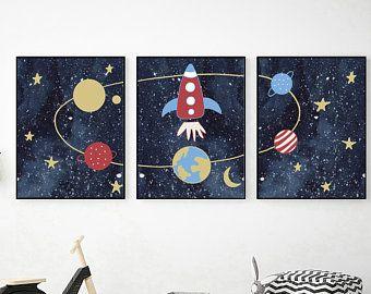 Red Far Away Galaxy Space 12X16 Inch Framed Art Print