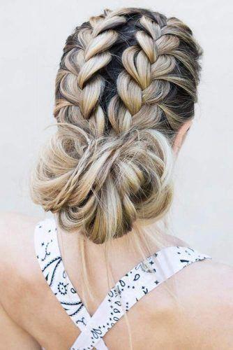 Elegant Braided Hairstyles Bridesmaids Braidedhairstyles French Braid Hairstyles Cool Braid Hairstyles Medium Hair Styles