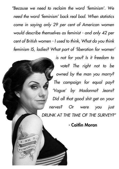 Caitlin Moran on #feminism.