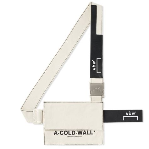 A-COLD-WALL* Canvas Utility Bag Natural, White & Black 1